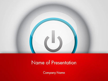 Computers: Computer Power Button PowerPoint Template #13160
