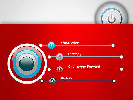 Computer Power Button PowerPoint Template, Slide 3, 13160, Computers — PoweredTemplate.com