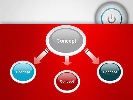 Computer Power Button PowerPoint Template, Slide 4, 13160, Computers — PoweredTemplate.com