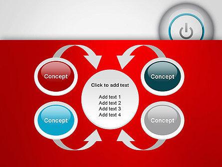 Computer Power Button PowerPoint Template Slide 6