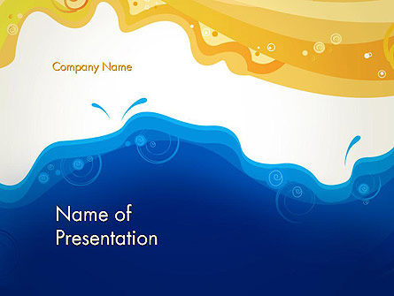Art & Entertainment: Yellow and Blue Painting PowerPoint Template #13161