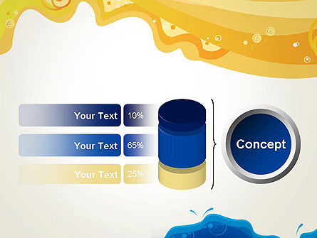 Yellow and Blue Painting PowerPoint Template Slide 11