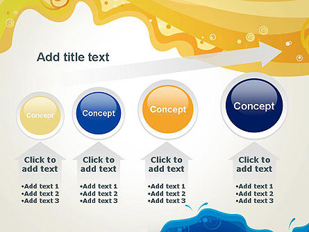 Yellow and Blue Painting PowerPoint Template Slide 13
