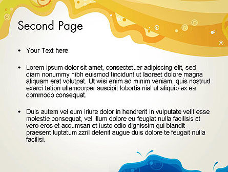Yellow and Blue Painting PowerPoint Template Slide 2