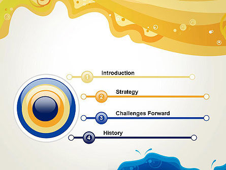 Yellow and Blue Painting PowerPoint Template Slide 3