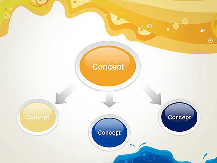 Yellow and Blue Painting PowerPoint Template Slide 4