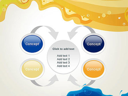 Yellow and Blue Painting PowerPoint Template Slide 6