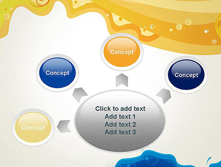 Yellow and Blue Painting PowerPoint Template Slide 7