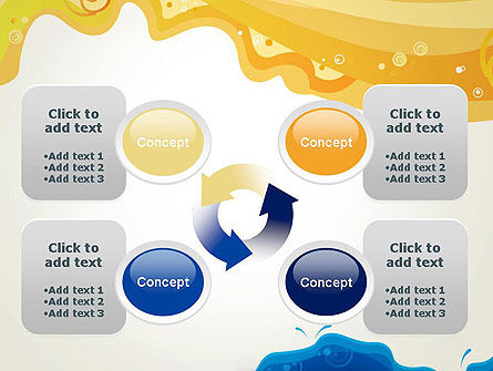 Yellow and Blue Painting PowerPoint Template Slide 9