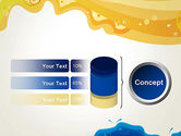 Yellow and Blue Painting PowerPoint Template#11