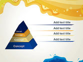 Yellow and Blue Painting PowerPoint Template#12