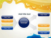 Yellow and Blue Painting PowerPoint Template#14
