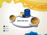 Yellow and Blue Painting PowerPoint Template#16
