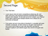 Yellow and Blue Painting PowerPoint Template#2