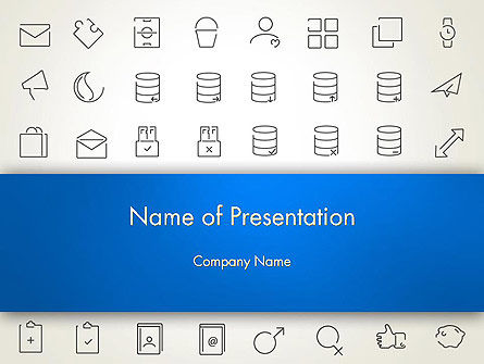 Thin Line Icons PowerPoint Template