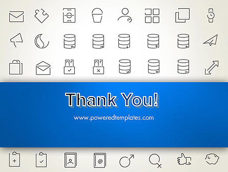 Thin Line Icons PowerPoint Template Slide 20