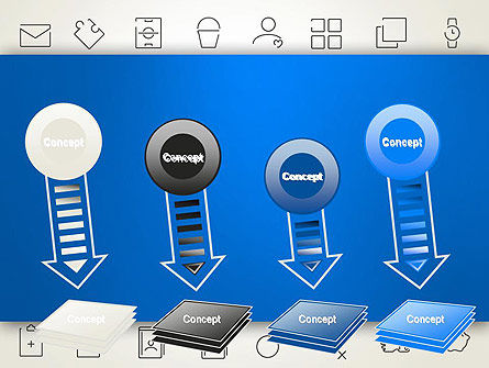 Thin Line Icons PowerPoint Template Slide 8