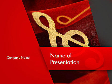 Art & Entertainment: Muzieknoot PowerPoint Template #13164