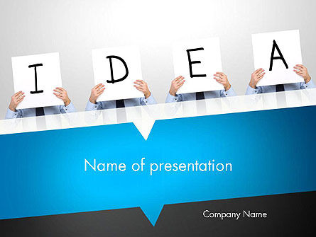 Presenting an Idea PowerPoint Template