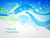 Abstract/Textures: Waves Circles and Stars Abstract PowerPoint Template #13166