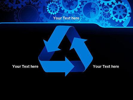 Abstract Blue Clockwork PowerPoint Template Slide 10