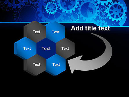 Abstract Blue Clockwork PowerPoint Template Slide 11