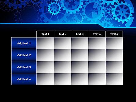 Abstract Blue Clockwork PowerPoint Template Slide 15