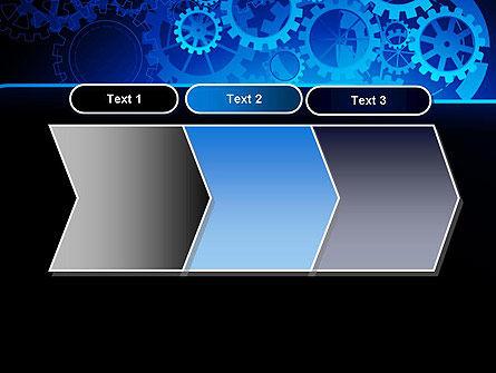Abstract Blue Clockwork PowerPoint Template Slide 16