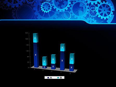 Abstract Blue Clockwork PowerPoint Template Slide 17