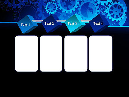 Abstract Blue Clockwork PowerPoint Template Slide 18