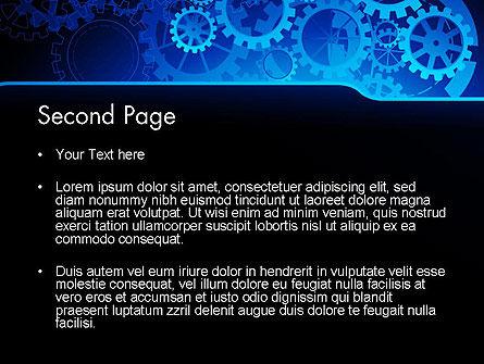 Abstract Blue Clockwork PowerPoint Template Slide 2