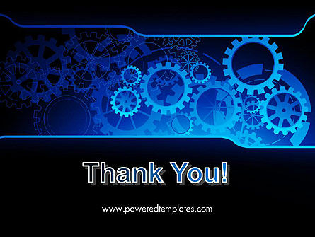 Abstract Blue Clockwork PowerPoint Template Slide 20
