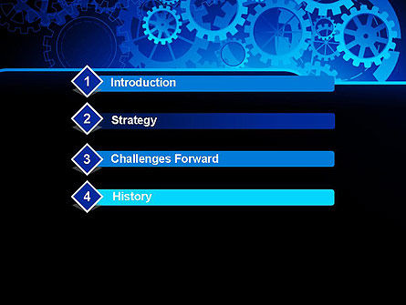 Abstract Blue Clockwork PowerPoint Template Slide 3