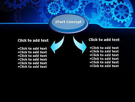 Abstract Blue Clockwork PowerPoint Template, Slide 4, 13167, Business Concepts — PoweredTemplate.com