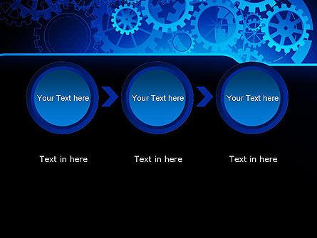 Abstract Blue Clockwork PowerPoint Template Slide 5