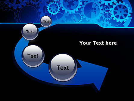 Abstract Blue Clockwork PowerPoint Template Slide 6