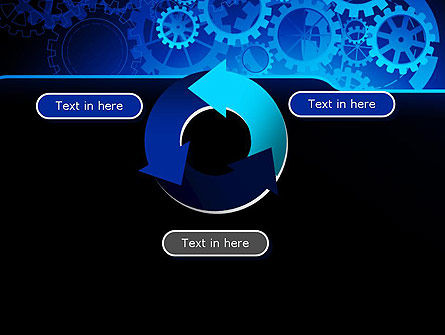 Abstract Blue Clockwork PowerPoint Template Slide 9