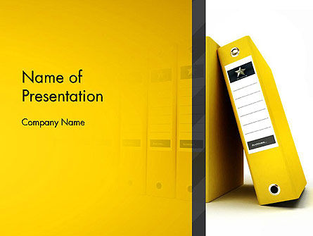Yellow Binders PowerPoint Template