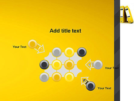 Yellow Binders PowerPoint Template Slide 10