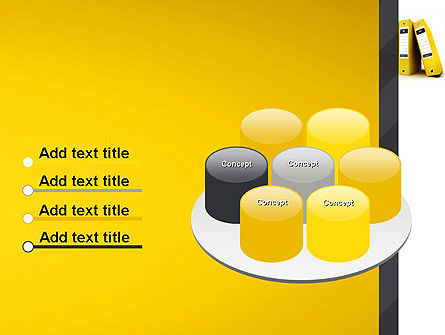 Yellow Binders PowerPoint Template Slide 12