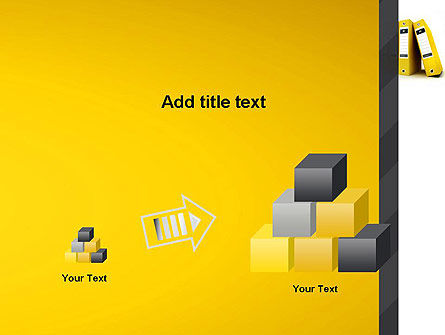 Yellow Binders PowerPoint Template Slide 13