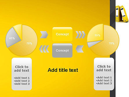 Yellow Binders PowerPoint Template Slide 16