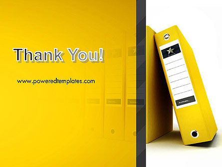 Yellow Binders PowerPoint Template Slide 20