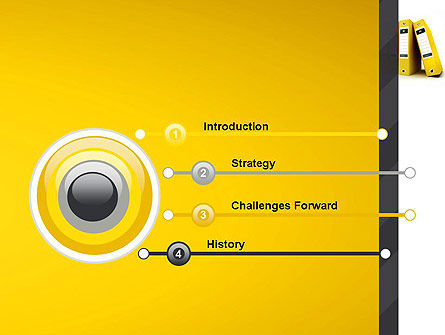 Yellow Binders PowerPoint Template Slide 3