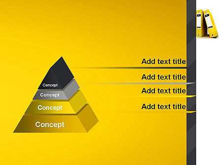 Yellow Binders PowerPoint Template Slide 4