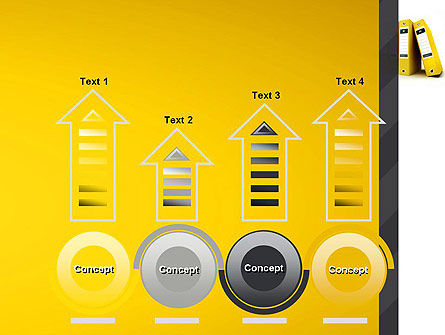 Yellow Binders PowerPoint Template Slide 7