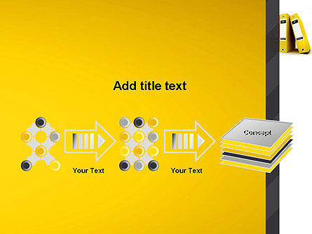 Yellow Binders PowerPoint Template Slide 9