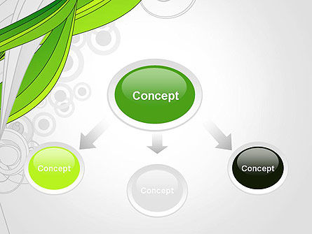 Underwater Green Sprout Abstract PowerPoint Template, Slide 4, 13171, Nature & Environment — PoweredTemplate.com