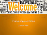 Education & Training: Welcome Word Cloud in Different Languages PowerPoint Template #13173