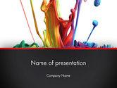 Art & Entertainment: Modèle PowerPoint de gouttes de couleur #13174